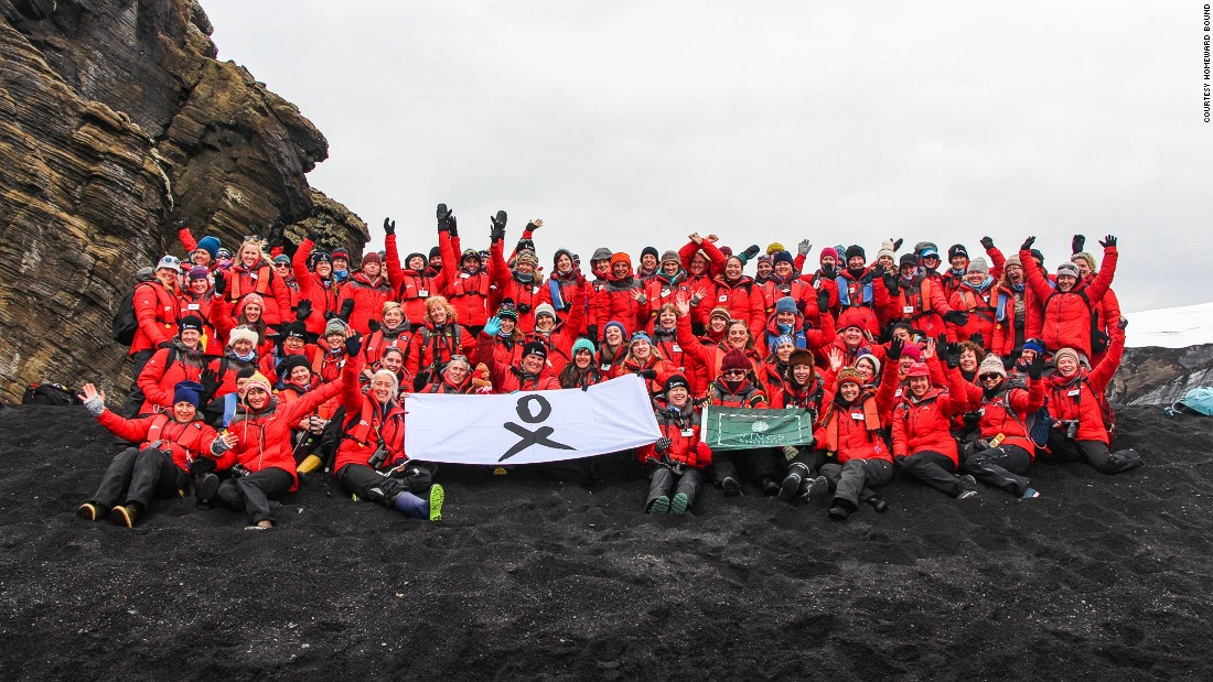 Homeward Bound team make it to Deception Island, which is in fact the top of a volcano.