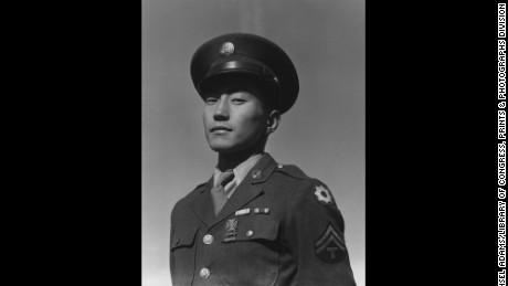 Corporal Jimmy Shohara / photograph by Ansel Adams.SummaryCorporal Jimmy Shohara, head-and-shoulders portrait, facing front, in uniform.Contributor NamesAdams, Ansel, 1902-1984, photographerCreated / Published[1943]Subject Headings-  Shohara, Jimmy--Military service-  Manzanar War Relocation Center--People--1940-1950-  World War, 1939-1945--Japanese Americans--California--Manzanar-  Japanese Americans--California--Manzanar--1940-1950