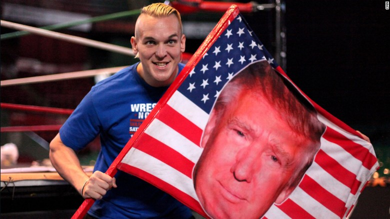 Wrestler channels anti-Trump rage