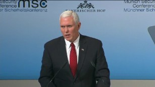 Pence reassures NATO allies in Munich speech