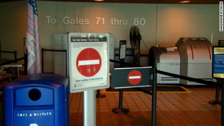 Police in Hawaii open investigation after the death of a man who breached security at Honolulu International Airport
