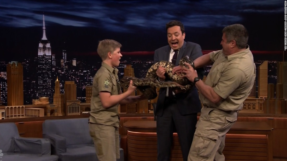 'Crocodile Hunter' son freaks out Fallon
