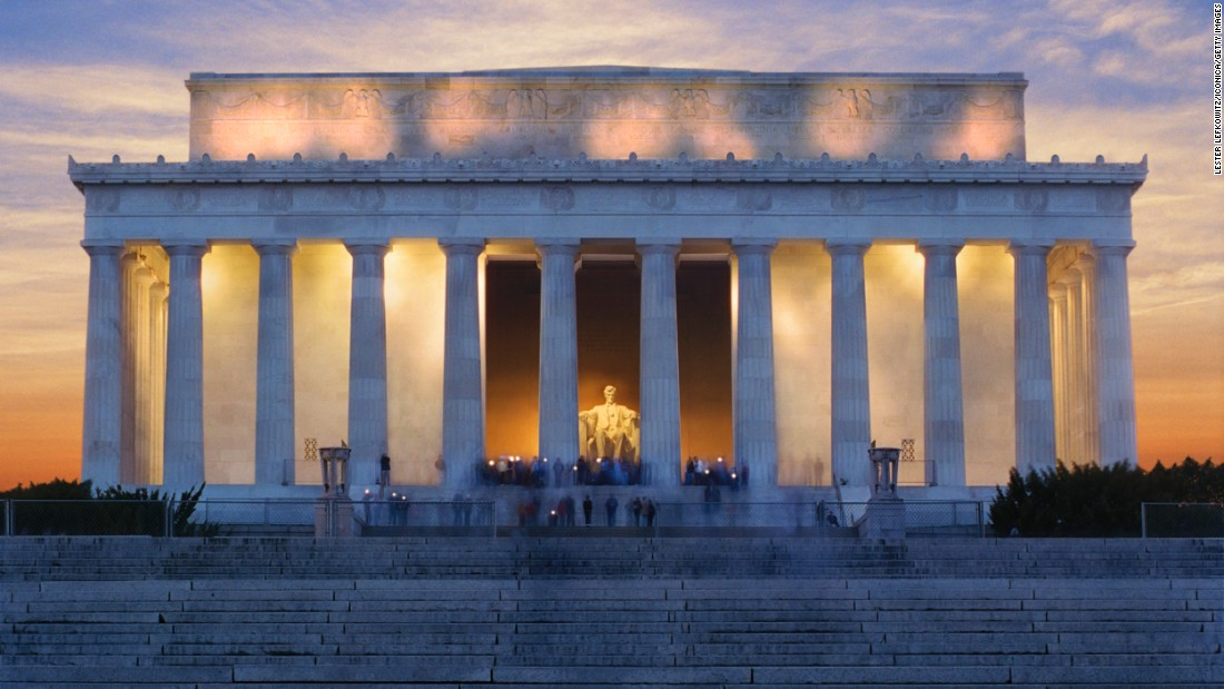 <strong>6. Lincoln Memorial, Washington, D.C.:</strong> President Abraham Lincoln's influence on the country was so vast, there are 16 sites associated with the 16th president's legacy. Construction of the Lincoln Memorial was completed in 1922.