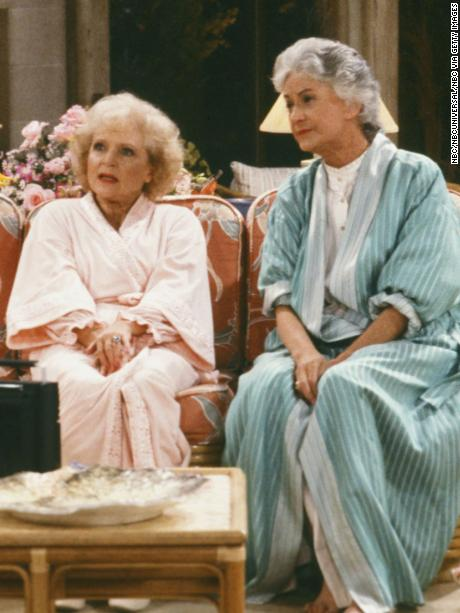 THE GOLDEN GIRLS -- Pictured: (l-r) Estelle Getty as Sophia Petrillo, Bea Arthur as Dorothy Petrillo-Zbornak, Betty White as Rose Nylund, Rue McClanahan as Blanche Devereaux-- Photo by: NBC/NBCU Photo Bank