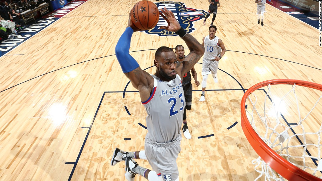 "This was ""King"" James' 13th All-Star Game appearance. He scored an incredible 23 points."