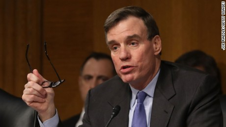 WASHINGTON, DC - JANUARY 10:  Mark R. Warner (D-VA), Vice Chair of the Senate Select Committee on Intelligence, speaks during the Senate (Select) Intelligence Committee in the Dirksen Senate Office Building on Capitol Hill January 10, 2017 in Washington, DC.  The committee was holding a hearing about cyber threats to the United States and fielded questions about effects of Russian government hacking on the 2016 presidential election.  (Photo by Joe Raedle/Getty Images)