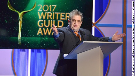 Host Patton Oswalt speaks onstage during the 2017 Writers Guild Awards L.A. Ceremony at The Beverly Hilton Hotel on February 19, 2017 in Beverly Hills, California.