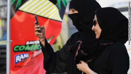 A Saudi woman films visits the first ever Comic-Con event in the coastal city of Jeddah.