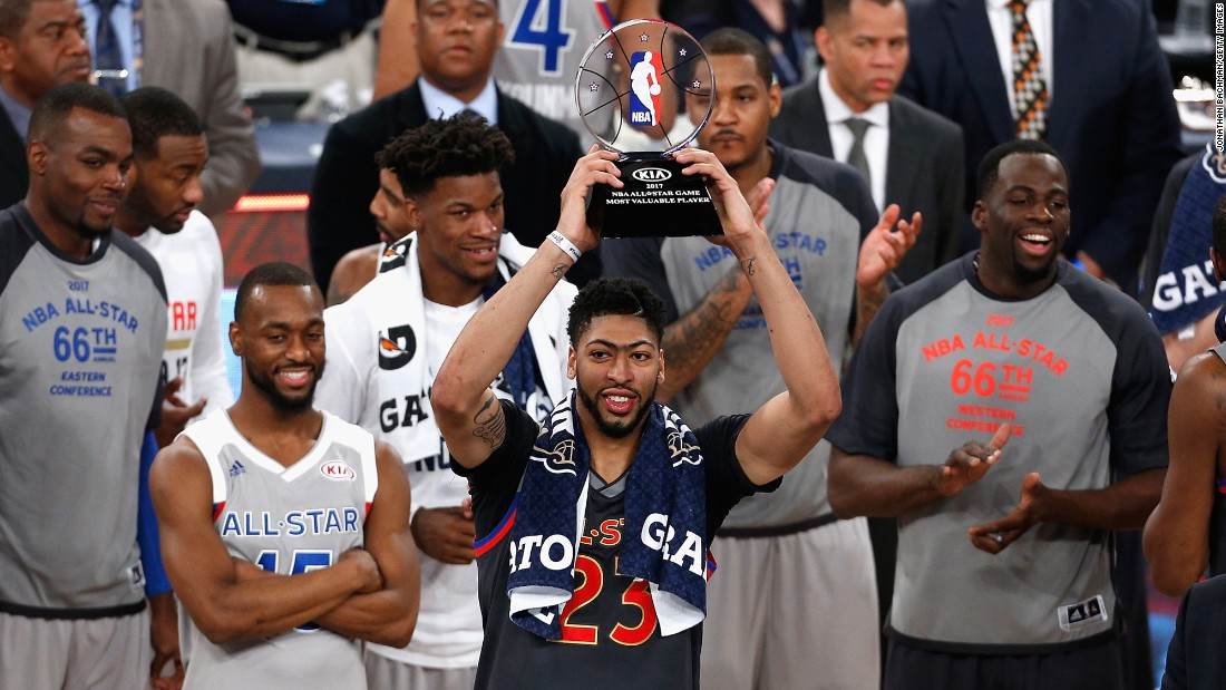 When it was all said and done, both teams had scored more total points than any previous All-Star Game: 374. Davis' unprecedented scoring and outstanding rebounding helped him take home the game's MVP trophy.