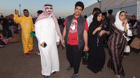Attendees dress up and genders mix at Saudi Arabia's first Comi Con.