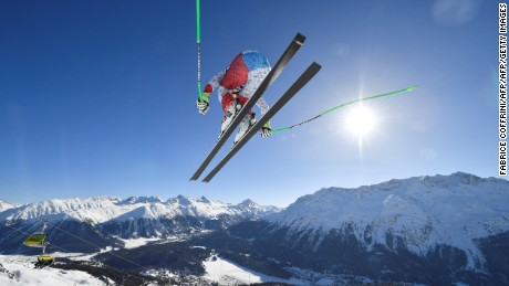 Ski stars thrill crowds in St. Moritz