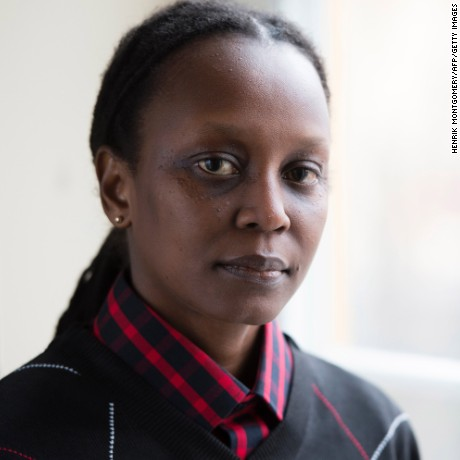 "Ugandan LGBT rights activist Kasha Jacqueline Nabagesera  poses during a press meeting in Stockholm on November 27, 2015. Nabagesera visits Stockholm as recipient of the 2015 Right Livelihood Award, often called the ""Alternative Nobel Prize"".   AFP PHOTO / TT NEWS AGENCY / HENRIK MONTGOMERY +++ SWEEDN OUT / AFP / TT NEWS AGENCY / HENRIK MONTGOMERY        (Photo credit should read HENRIK MONTGOMERY/AFP/Getty Images)"