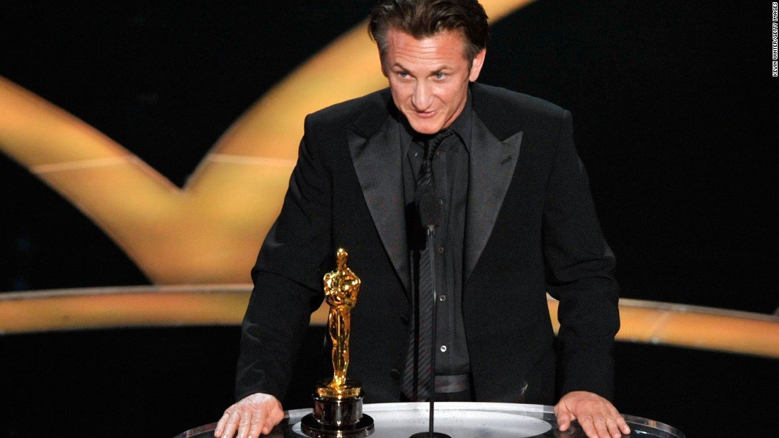 """...For those who saw the signs of hatred as our cars drove in tonight, I think that it is a good time for those who voted for the ban against gay marriage to sit and reflect and anticipate their great shame and the shame in their grandchildren's eyes if they continue that way of support. We've got to have equal rights for everyone."" -- Sean Penn, accepting the best actor in a leading role award for his role in ""Milk"" at the 81st Academy Awards on February 22, 2009 at the Kodak Theater<br />"