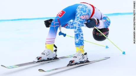 ST MORITZ, SWITZERLAND - FEBRUARY 17:  Andreas Zampa of Slovakia reacts after finishing his run competes in the Men's Giant Slalom during the FIS Alpine World Ski Championships on February 17, 2017 in St Moritz, Switzerland.  (Photo by Alexander Hassenstein/Getty Images)