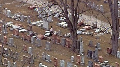 Police are investigating damage to headstones at the Chesed Shel Emeth Society cemetary in Missouri.