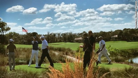 Trump's aides don't want to admit the President is golfing