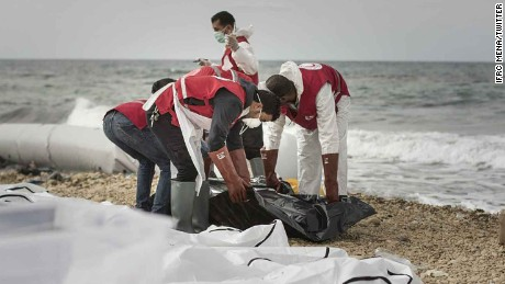 The IFRC for the Middle East and North Africa says it has recovered 74 bodies of people from a boat that washed ashore the Libyan coast.   Monday night IFRC MENA tweeted: https://twitter.com/IFRC_MENA/status/833769979162030085   #Libya: Tragedy again as #RedCrescent recover bodies of 74 people from a boat washed ashore near #Zawiya #StopIndifference #migration