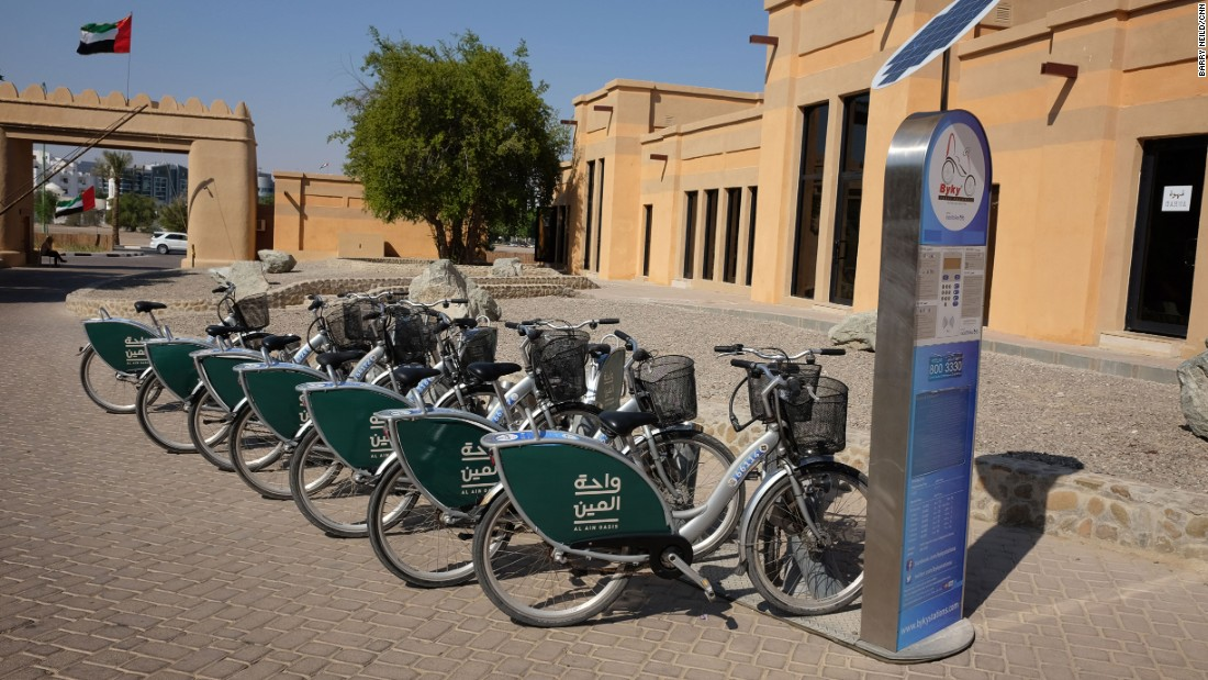 <strong>Pedal through the palm trees: </strong>Cycles can be hired for a few dollars to get around the oasis.
