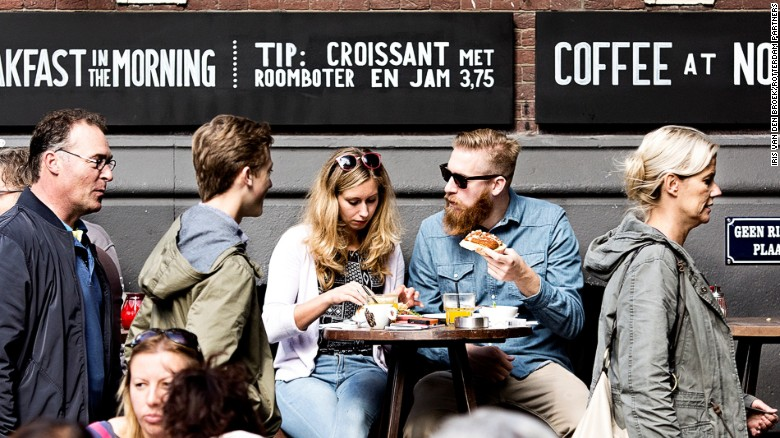 Alfresco dining and drinking in Rotterdam's buzzing Witte de Withstraat.