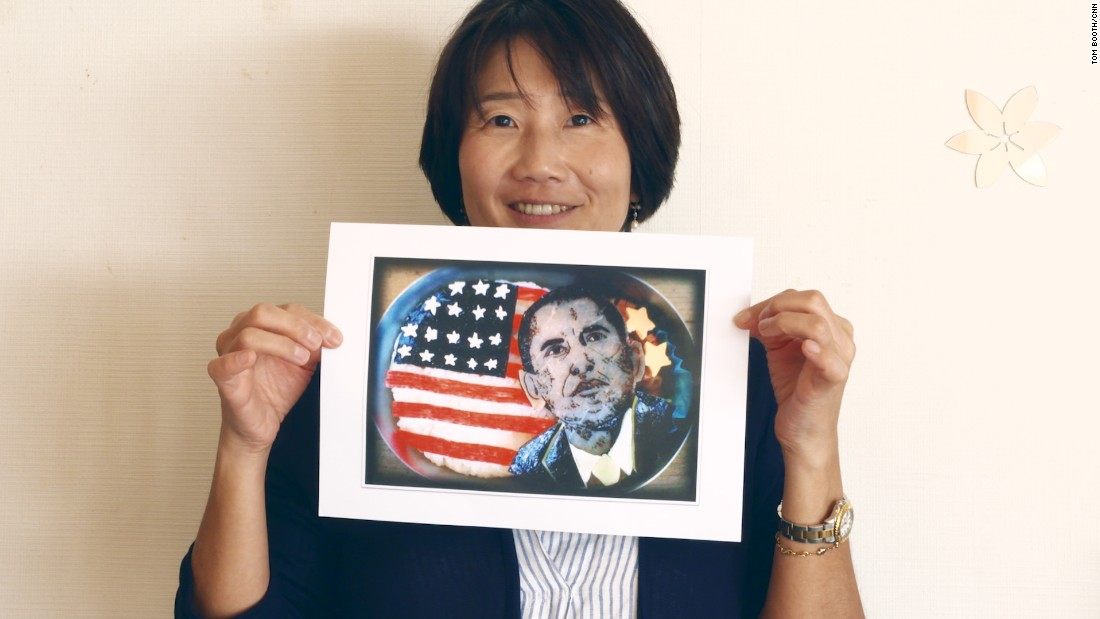 "Tomomi Maruo is considered the queen of ""charaben"" -- charater bento boxes. Over the past 13 years, she has become renowned for her realistic portrayals of famous figures, such as Barack Obama, in the boxes."