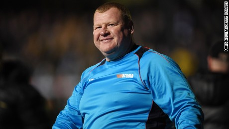Reserve goalkeeper Wayne Shaw of Sutton acknowledges the crowd after The Emirates FA Cup Fifth Round match between Sutton United and Arsenal at Gander Green Lane on February 20, in Sutton, Greater London.