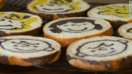 """A Charlie Brown """"illustration"""" loaf from Japan's Konel Bread."""