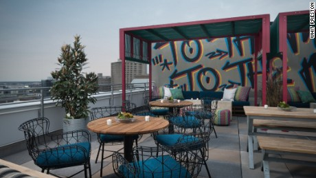 Monkey Board is The Troubadour hotel's breezy 17th floor bar and restaurant.