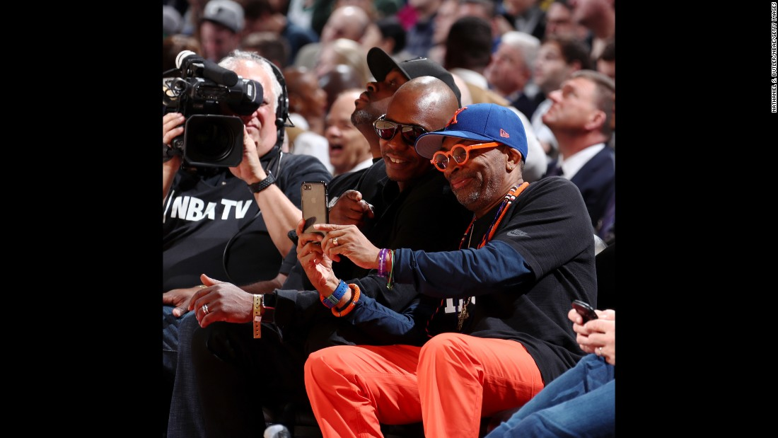 "Film director Spike Lee snaps a photo with comedian Dave Chappelle as they attend the <a href=""http://www.cnn.com/2017/02/20/sport/gallery/2017-nba-all-star-game-best-photos/index.html"" target=""_blank"">NBA All-Star Game</a> on Sunday, February 19."
