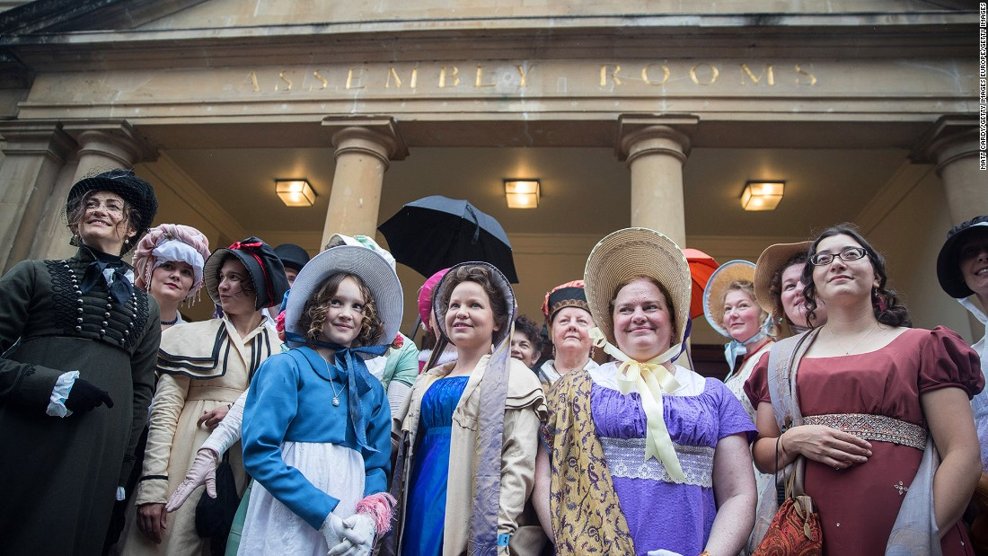<strong>Jane Austen's England: </strong>The southwestern English city of Bath is closely associated with Jane Austen. Every September, fans gather for the annual Jane Austen Festival, which includes a costume parade in Regency dress. <br />