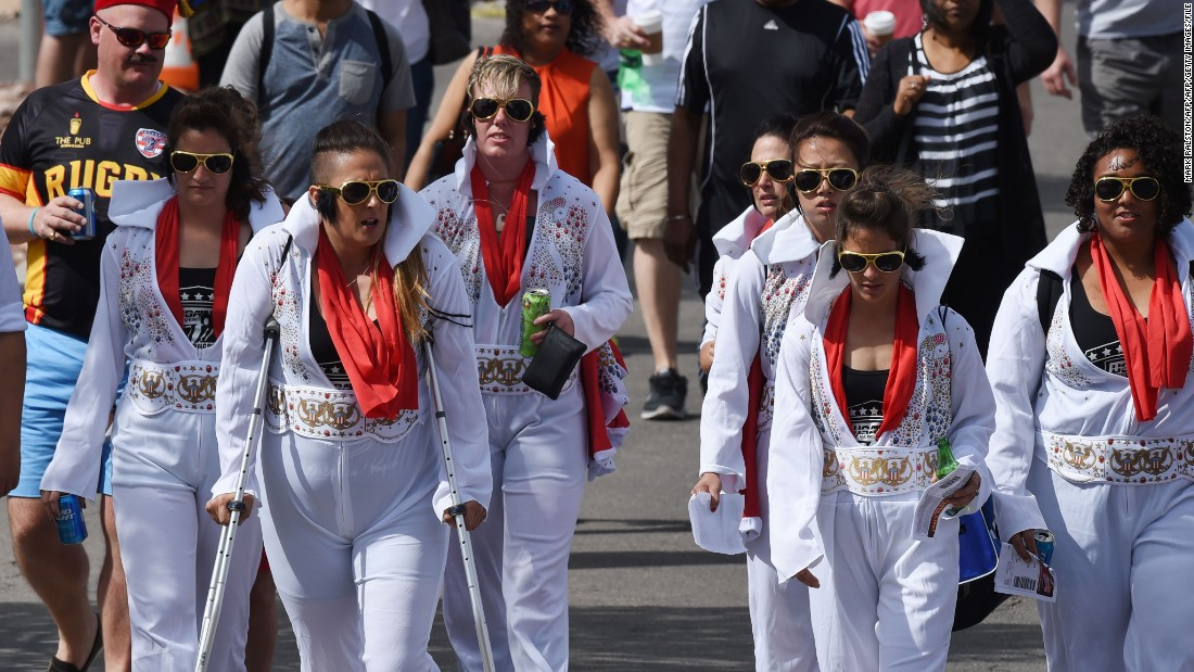 The Saturday of 2016's tournament brought in 35,716 people such as these fans dressed as Elvis Presley.