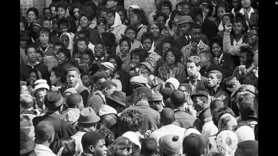 "Two days after ""Bloody Sunday,"" a second march started in Selma. This time, the crowd turned back at the bridge when it met a barricade of state troopers."