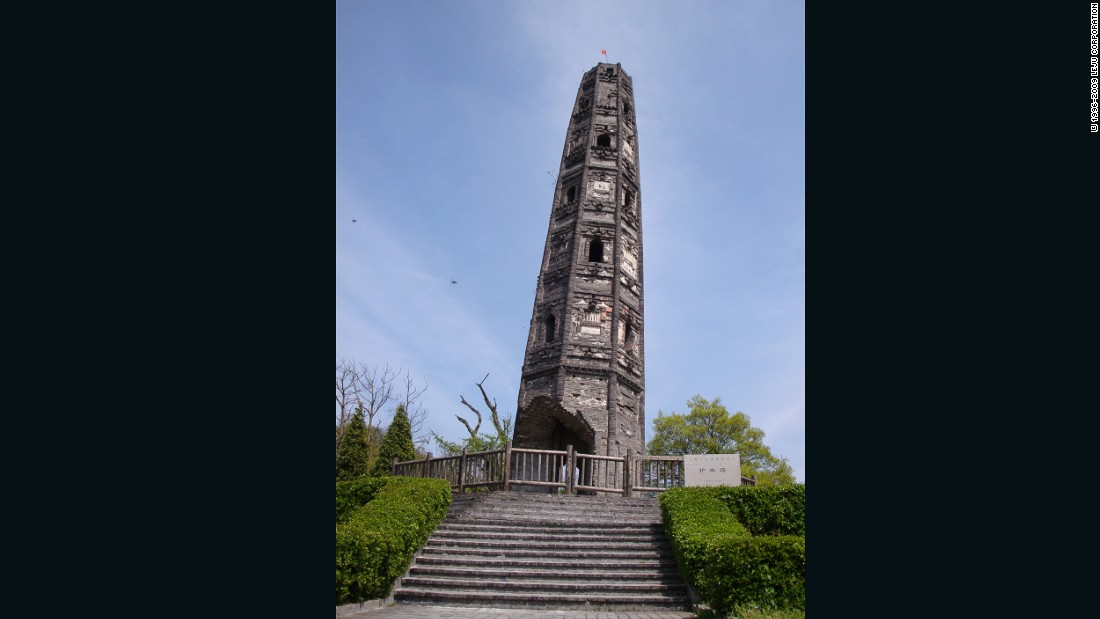 "This ancient Buddhist pagoda was built on the Tianma Mountain in Songjiang County, near Shanghai, China. The 62 foot (19 meter) high tower has an obvious tilt and is <a href=""https://www.researchgate.net/publication/240435707_Mechanical_behavior_of_leaning_masonry_Huzhu_Pagoda"" target=""_blank"">estimated to be leaning more than six and a half degrees to the southeast</a>."