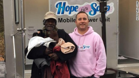 """Every homeless person has a story,"" says Jason Winters, founder of Hopes Thru Soap."