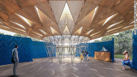Serpentine gallery commissions architects each summer to create their first structure in the UK.