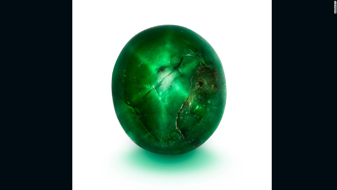 "This museum-quality gem, called the ""Marcial de Gomar Star,"" weighs nearly 26 carats and is one of the largest star emeralds ever found."