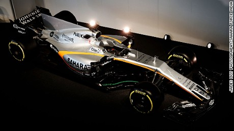 The Sahara Force India F1 VJM10.
