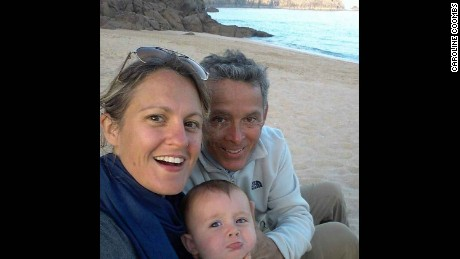 Caroline Coombs took this photo with her husband Carlos Alarcon Real and son Thomas in Porthcurno, Cornwall.