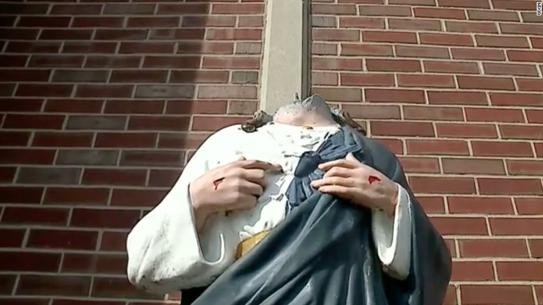Jesus statue beheaded twice in 2 weeks