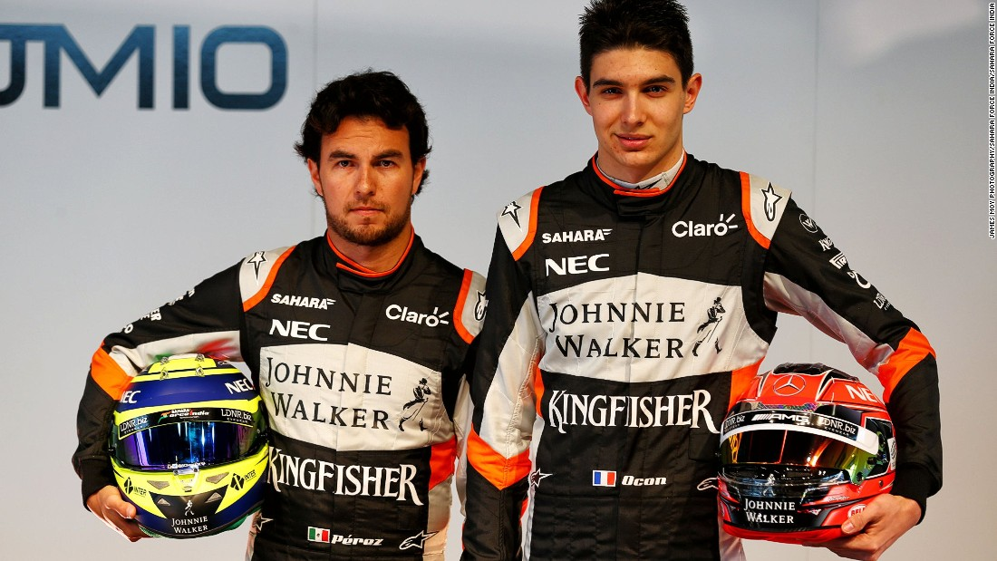 """I think the 2017 cars are gonna be much more challenging,"" Ocon (right) told CNN. ""I've been spending a lot of time in the gym -- a lot ... two months now ...  I will be ready physically for sure but it's been hard!"""
