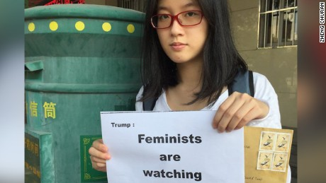Chinese feminist Zheng Churan wrote an open letter to US President Donald Trump.