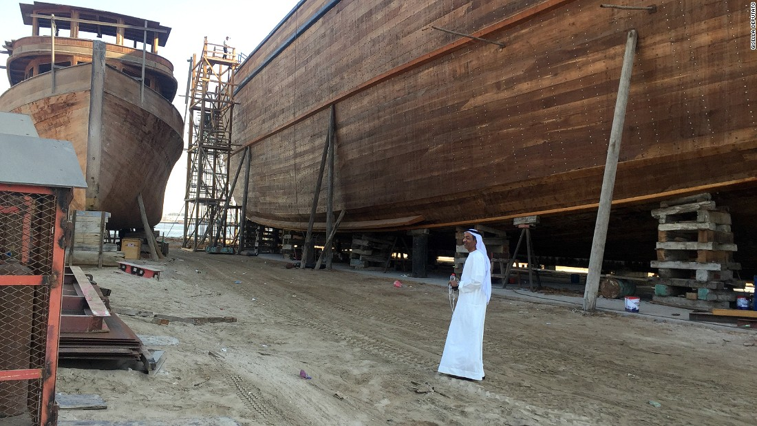 Third-generation shipbuilder Ahmed Obaid, pictured, is building what he says will be the longest dhow in the world.