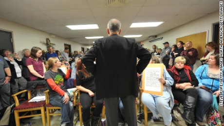 GARNER, IA - FEBRUARY  21:  U.S. Sen. Chuck Grassley (R-IA) speaks during a town hall meeting at the Hancock County Courthouse February 21, 2017 in Garner, Iowa. The senator faced a raucus constituency that chanted and interrupted during the hour-long forum.  (Photo by Steve Pope/Getty Images)