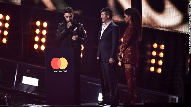Liam Payne accepts the Best British Artist Video of the Year award for One Direction.