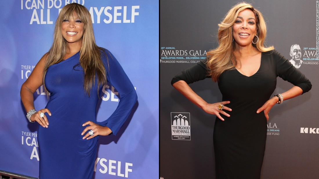 Talk show host Wendy Williams lost 50 lbs over three years and said in February 2017 that she is keeping the weight off.