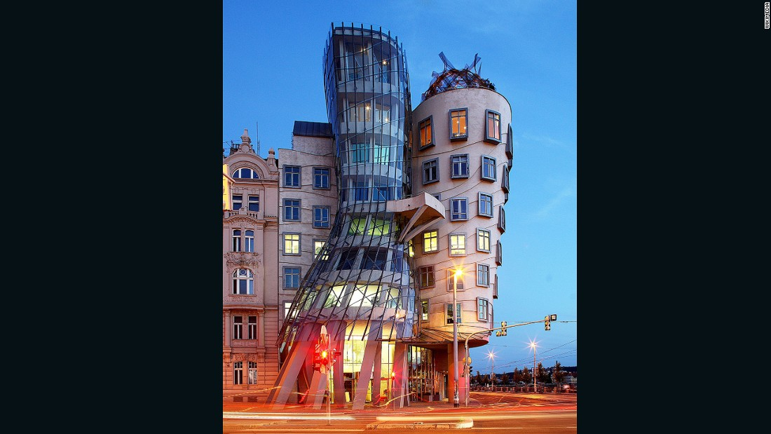 "The fantastical Nationale-Nederlanden building in Prague -- or ""Fred and Ginger"" as it's colloquially known -- was designed by American architect Frank Gehry to have an intentional lean."