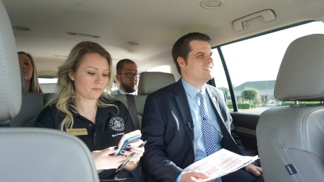 Rep. Gaetz and his chief of staff Amanda Cogan travel to appearances in Santa Rosa County, Florida.