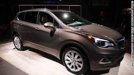 DETROIT, MI - JANUARY 10: The 2016 Buick Envision crossover SUV is shown at a Buick reveal on the eve of the 2016 North American International Auto Show January 10th, 2016 in Detroit, Michigan. The Envision will be built in China and sold in the United States. The NAIAS runs from January 11th to January 24th and will feature over 750 vehicles and interactive displays.  (Photo by Bill Pugliano/Getty Images)