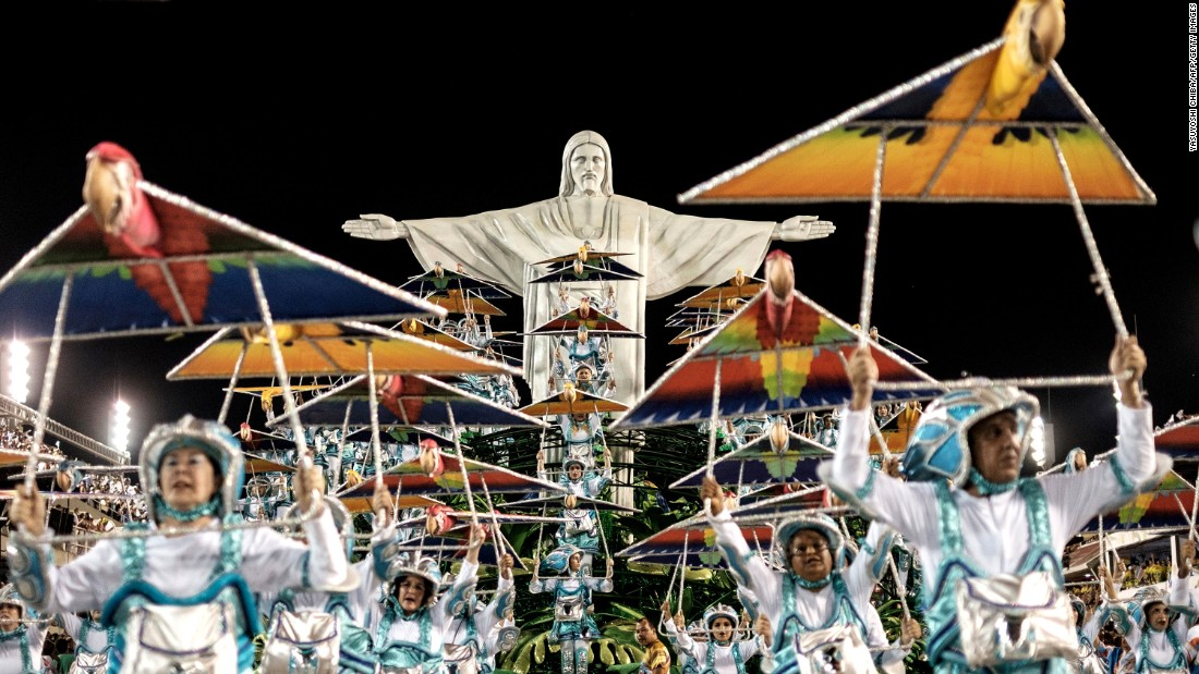 <strong>Origins of Carnival--</strong>Although it's now a more secular festival, Carnival was originally a Catholic event in order for people to celebrate before Lent. Its origins are still honored during the Samba Parade.
