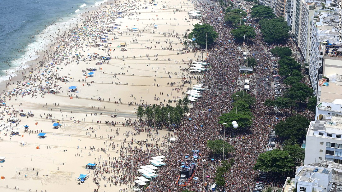 <strong>A Global Party--</strong> Savor your personal space before you arrive in Rio, because you won't be getting much once you arrive. Whether it is in the Sambódromo or at one of the many blocos (street parties), the city expects than more 1.1 million tourists during Carnival.