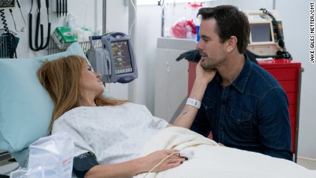 Rayna (Connie Britton) shares a sweet moment with Deacon (Charles Esten) in the latest episode of 'Nashville.'